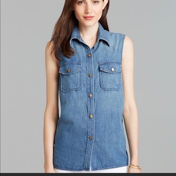 4866eef09c Current Elliott Tops - Current Elliott Perfect Shirt Miner Size 0–E1